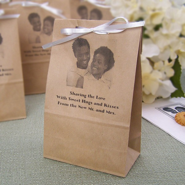 4 X 8 Personalized Photo Paper Party Favor Bags