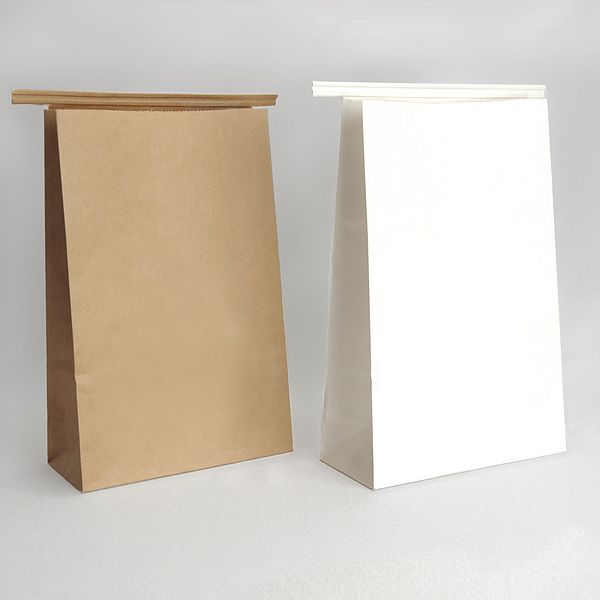 Tin Tie Bags available in White Semi-Gloss or Natural Kraft