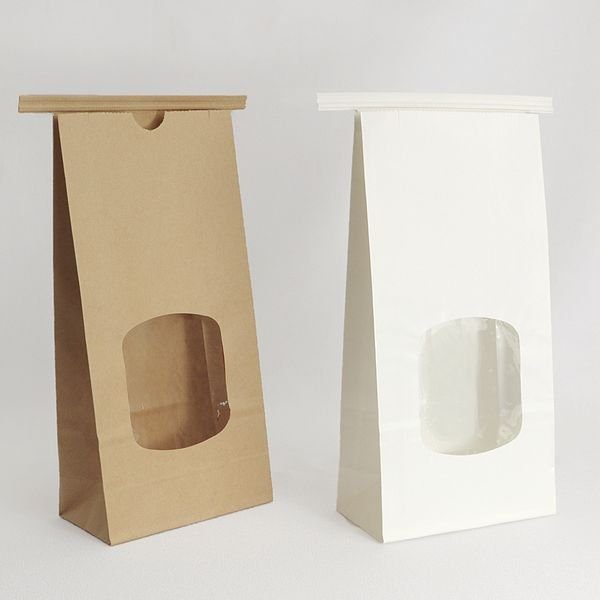 Tin Tie Goodie Bags available in White Semi-Gloss or Natural Kraft