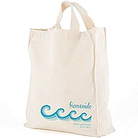 12 x 14 Beach Waves personalized canvas tote gift bag