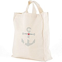 12 x 14 Love Anchor personalized canvas tote gift bag