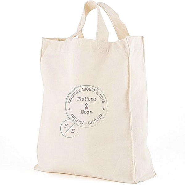 12 x 14  Passport Stamp personalized canvas tote gift bags