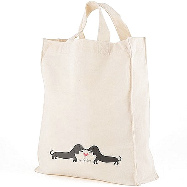 12 x 14 Puppy Love personalized canvas tote gift bag