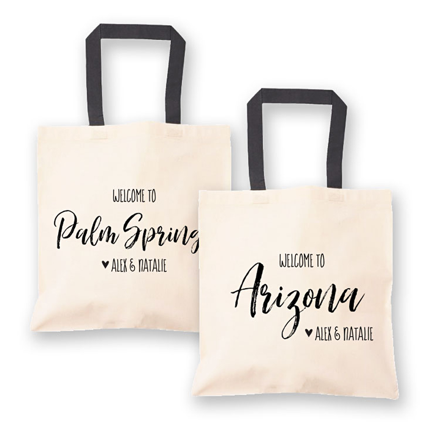 Welcome To Wedding Hotel Room Canvas Tote Bags