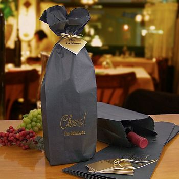Custom printed wine bottle gift bags