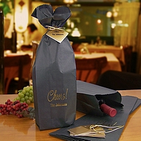 Personalized wine bottle gift bags in assorted styles, sizes and colors
