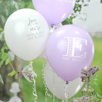 Latex wedding balloon custom printed with designs and monograms