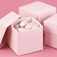 Pale Pink 2 x 2 Two-Piece Candy Boxes