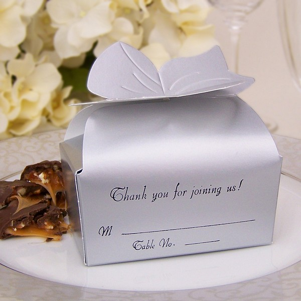 personalised wedding cake boxes for guests 3 x 2 personalized bow top favor boxes 6470
