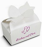 White bow box color