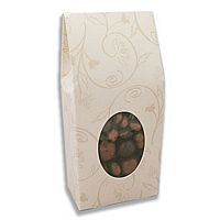 Ivory brocade tapered top favor box