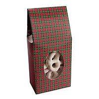 Plaid tapered top favor box