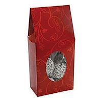 Red brocade tapered top favor box