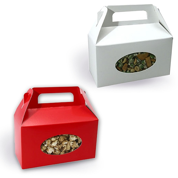 Christmas tote boxes in white or red