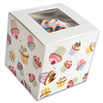 Cupcake design box color