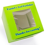 Lime cupcake box color