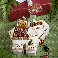Ivory elephant two piece trinket boxes