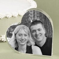 Photo heart cake topper with inserted picture