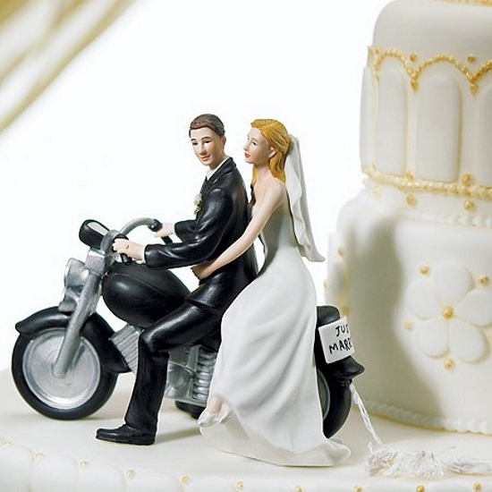 funny motorbike wedding cake topper just married motorcycle wedding cake topper 14558