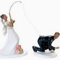 'Gone Fishing' Ethnic Bride and Groom Cake Topper