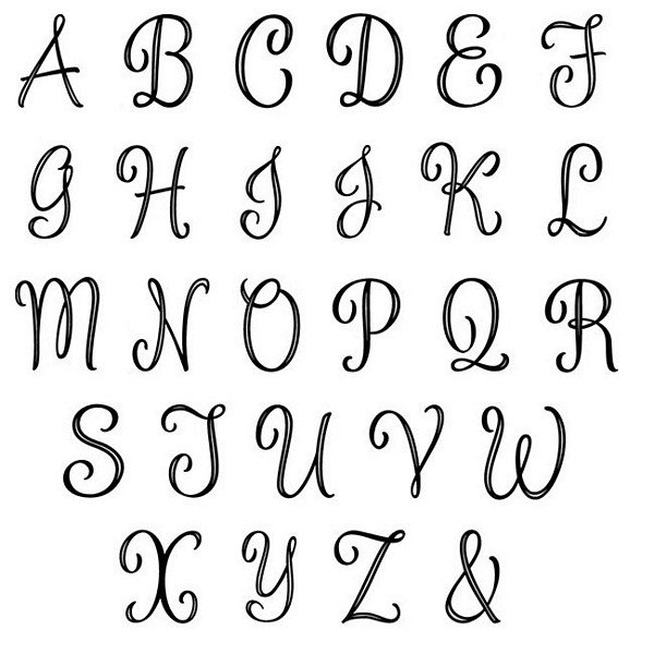 Alphabet for monogram letter cake topper picks