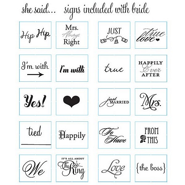 The Bride's Signs