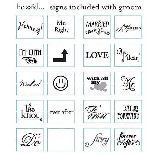 The Groom's Signs