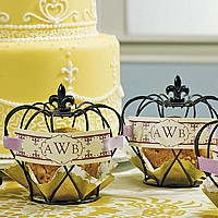 Small Black Wire Crowns Displayed with Cookies