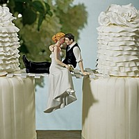 The Look of Love Bride and Groom Figurine Cake Topper