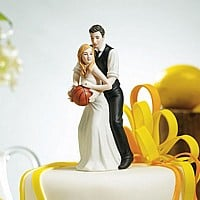 Basketball Dream Team Bride and Groom Figurine Cake Topper