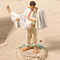 Beach Couple Figurine Wedding Cake Topper