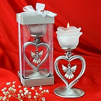 Silver votive candle holder favors in assorted themes and styles