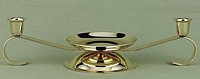 Scroll Design Gold Tone Unity Candle Stand