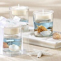 Seashell gel tea light candle holder
