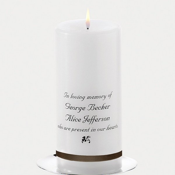 In Loving Memory Personalized 6 X 3 Memorial Candle