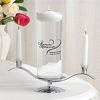 Wedding unity candles and candle holders