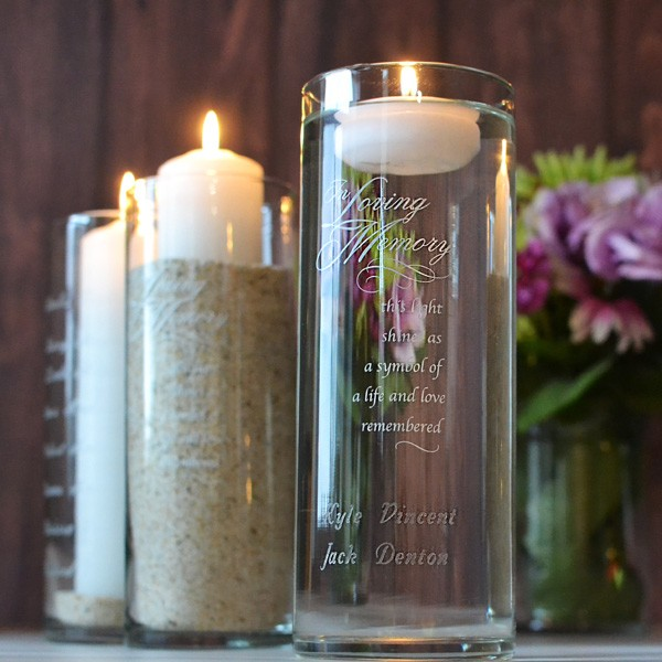 Reception Ceremony Burial: Personalized Wedding Memorial Candles, Vases, Frames, Crosses