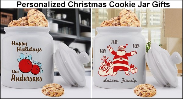 Personalized Christmas design cookie jar gifts
