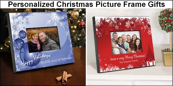 Personalized Christmas photo frame gifts