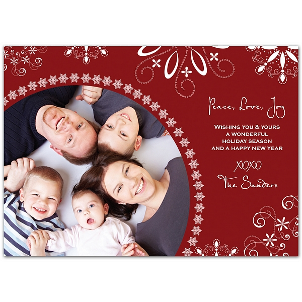 personalized christmas photo greeting cards, Greeting card