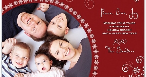 Personalized christmas photo greeting cards for Unique family christmas cards