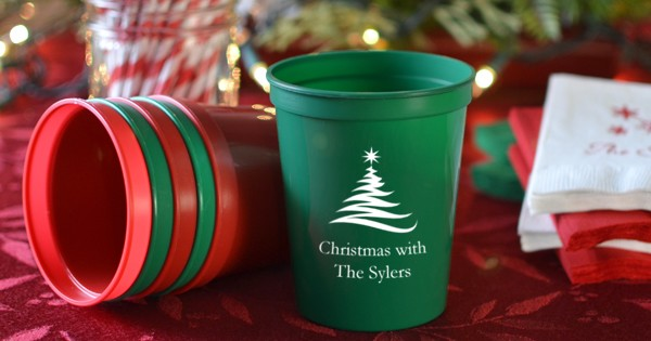 Personalized Christmas party cups