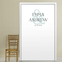 Custom printed wedding photo booth backdrops