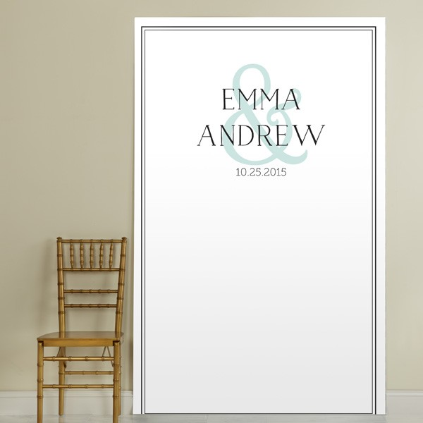 Personalized Wedding Photo Booth Backdrops