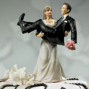 Funny Bride And Groom Wedding Cake Toppers