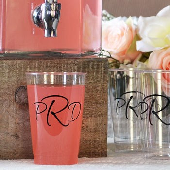 Personalized Disposable Clear Plastic Cups