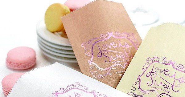 Wedding candy favor bags