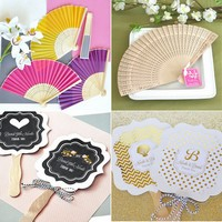 Hand held fan favors