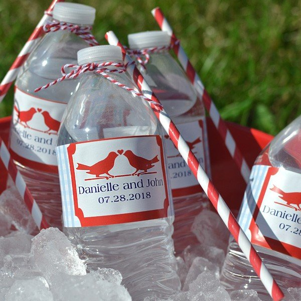 Water Bottle Labels Personalized My Wedding Reception Ideas