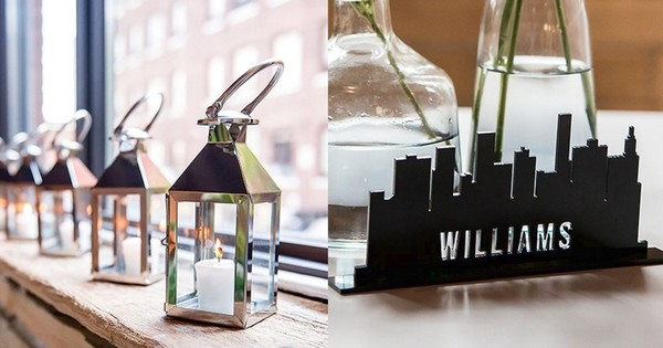 Industrial theme wedding decorations, favors, and gifts